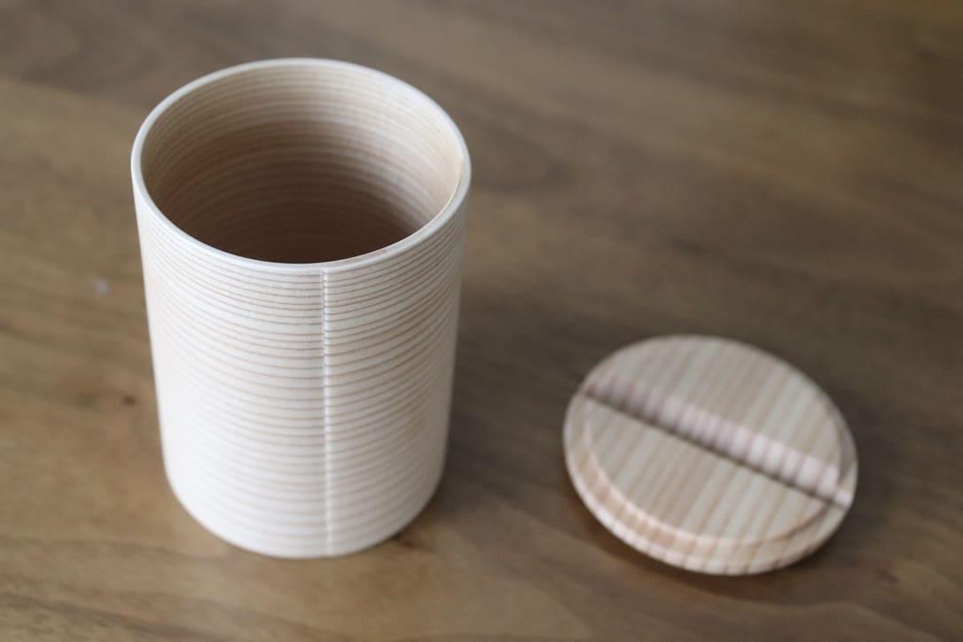 Japanese cedar wappa sake server