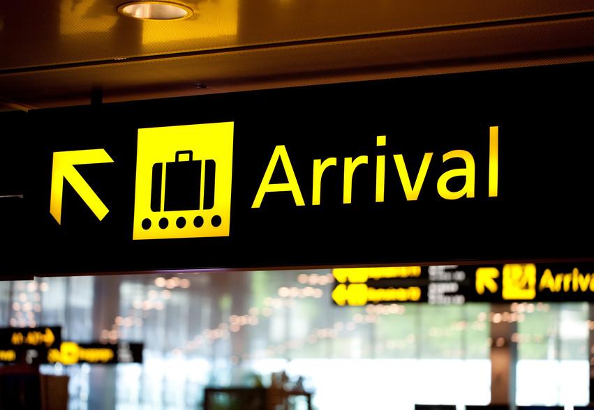 Informationen am Flughafen