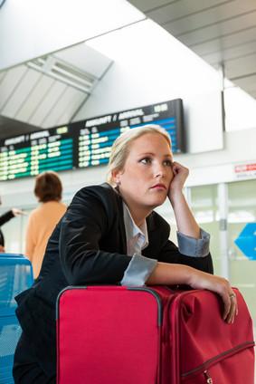 Zu früh am Flughafen