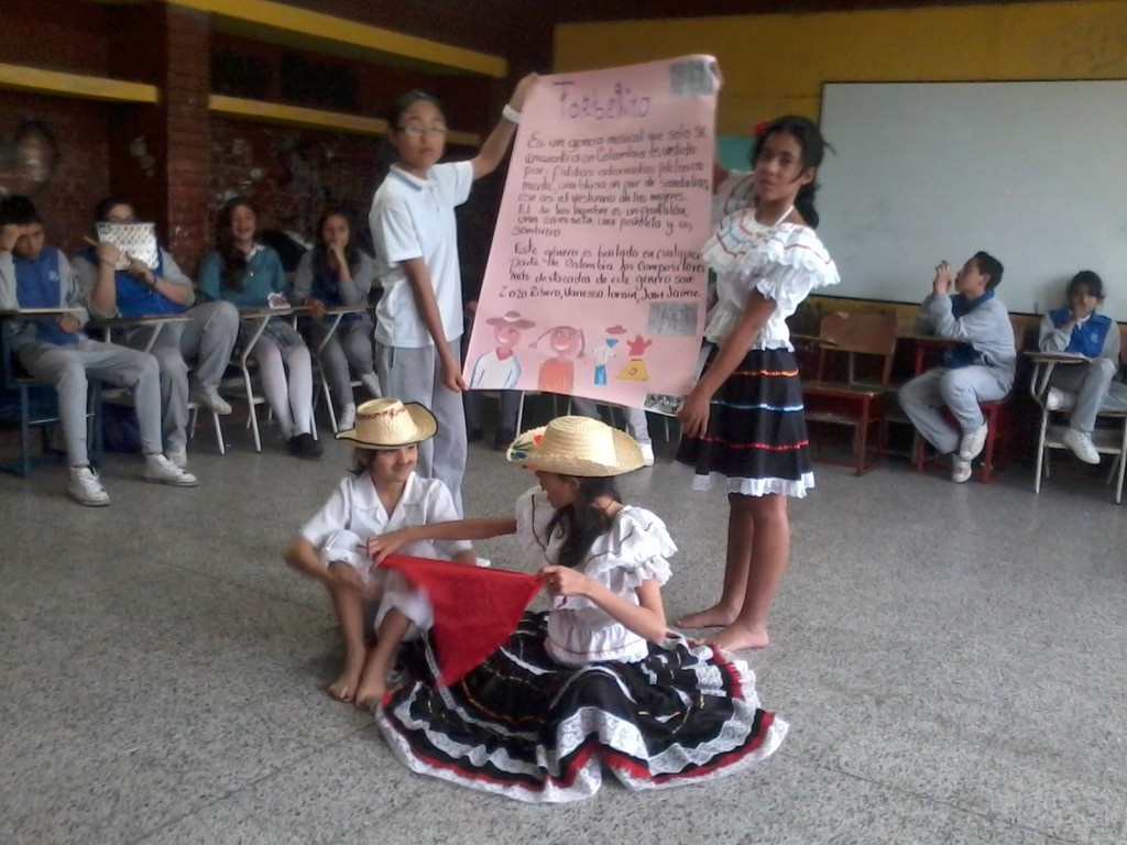 Exposiciones del grado Sexto J.T., apreciación musical en Colombia (2012)
