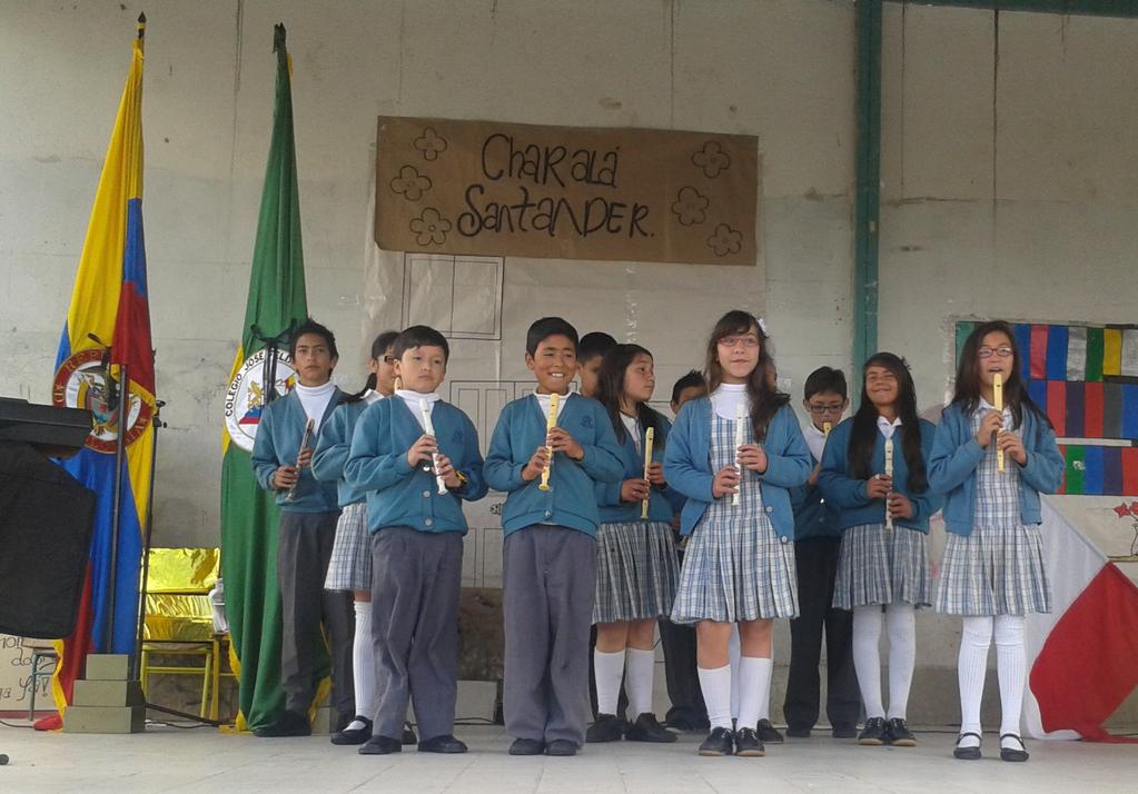 Izada de Bandera 25 de Julio de 2012 grados sextos J.M. Sede A José Félix Restrepo