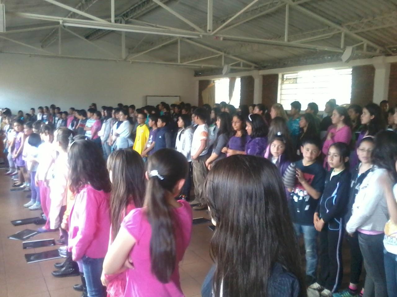 Ensayo general con bandas. 27 de Octubre de 2012 Lugar : Parroquia Catedral San Juan Bautista de La Estrada  Kra 69k Nro 68 - 58