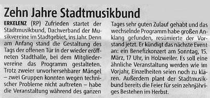 Rheinische Post 20.Jan.2009
