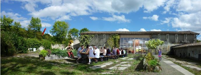 La Vacherie, projet Serge Goacolou Charpentes & Maisons Bois