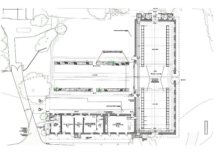 """cp Christophe Hutin Architectes. """"La Vacherie"""", projet Serge Goacolou Charpentes & Maisons Bois"""
