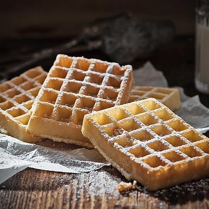 Protein Eiweiß Muskelaufbau Erdnussmehl Waffeln Rezept Dessert