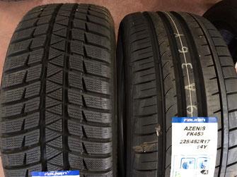 Neumático de invierno (izq). Neumático de verano (derecha).