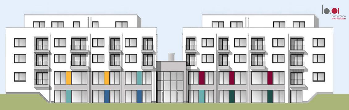 08.09.2021 Wohnhaus mit integrierter Kindertagesstätte Schützenstraße Schwerte (im Bau befindlich)