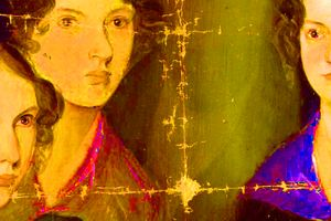 Détail d'après Les soeurs Brontë, Branwell Brontë (c. 1834)