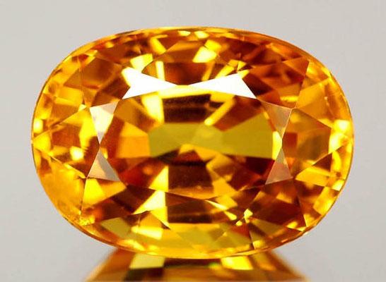 Желтый сапфир - самый сильный камень Юпитера