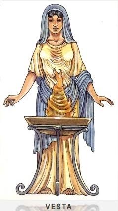 VESTA Göttin des Herdes und des Herdfeuers