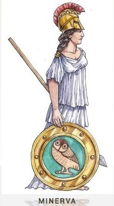 MINERVA Schutzherrin der Handwerker, Künstler, Lehrer und Ärzte