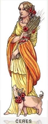 CERES Göttin des Acker- und Getreidebaus