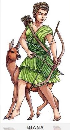 DIANA Göttin des Mondes und der Jagd