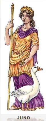 JUNO Gemahlin Jupiters und Göttin der Ehe und der Geburt