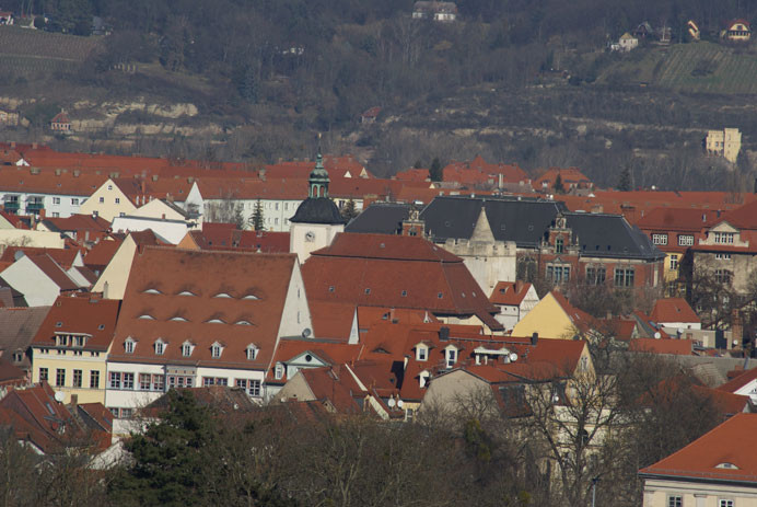 Blick auf die Dächer von Namburg