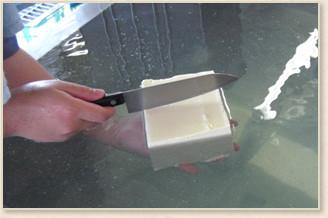 導入前でも大豆を持ち込み、豆腐を作ることができます!