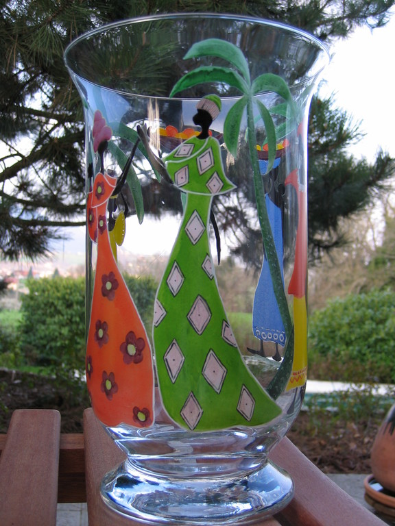 Peindre sur le verre un autre plaisir peinture sur porcelaine peinture sur verre fusing - Peinture sur plateau en verre ...