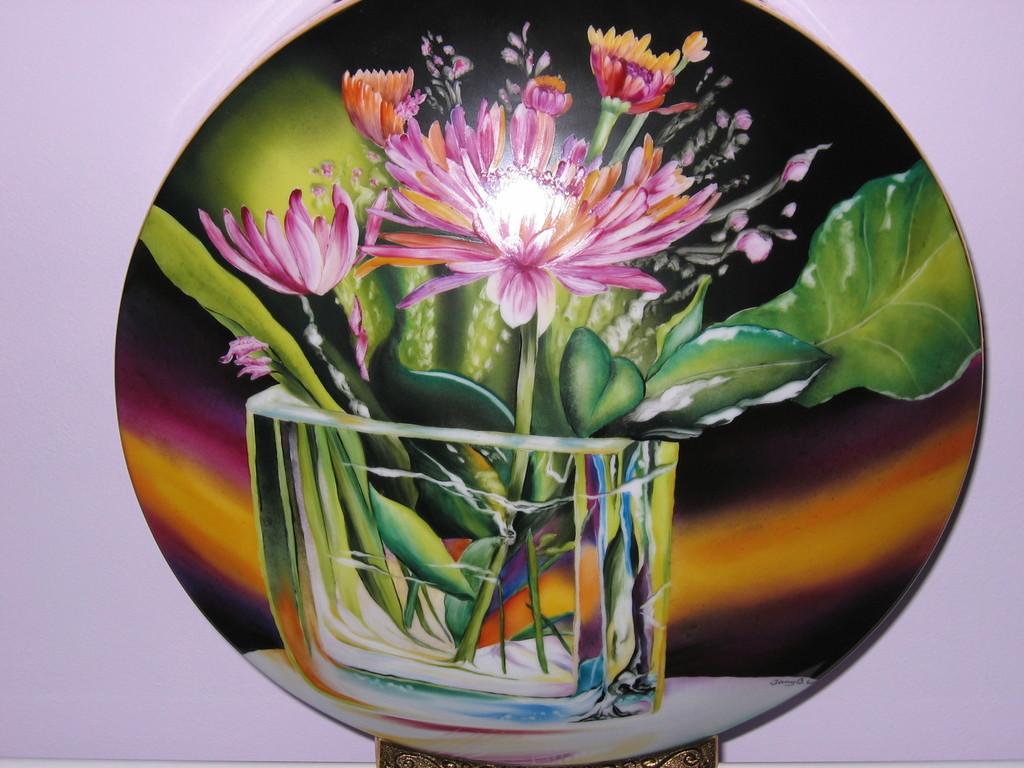 Vase en trompe l'oeil selon la méthode traditionnelle