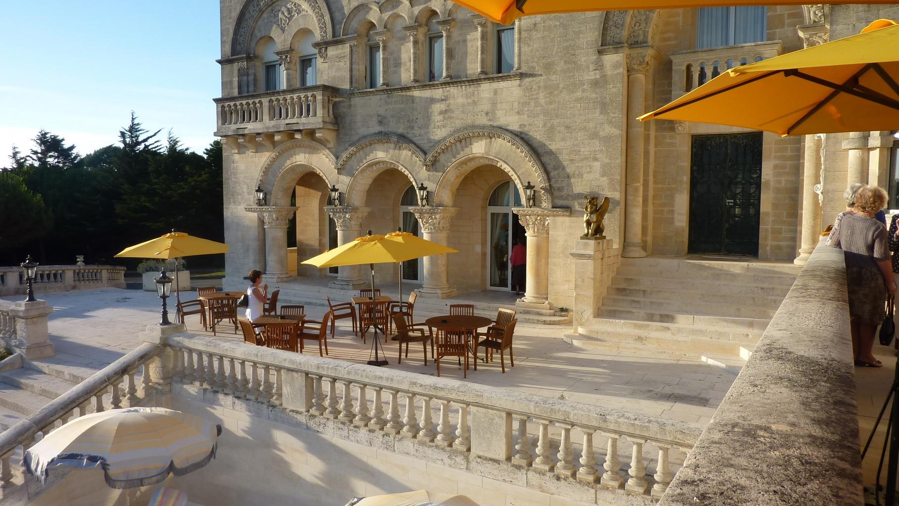 le château de St-Palais sur mer où nous avons dîné