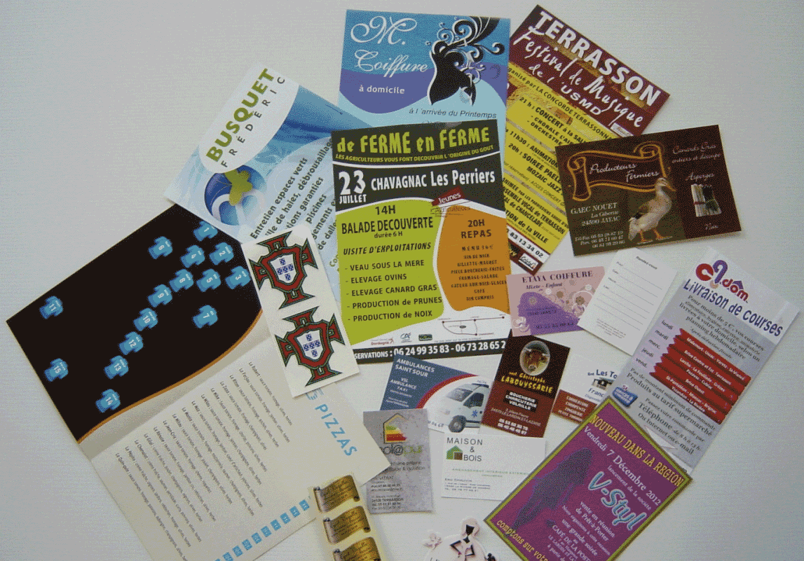 AFFICHES/FLYERS/CARTES DE VISITE...