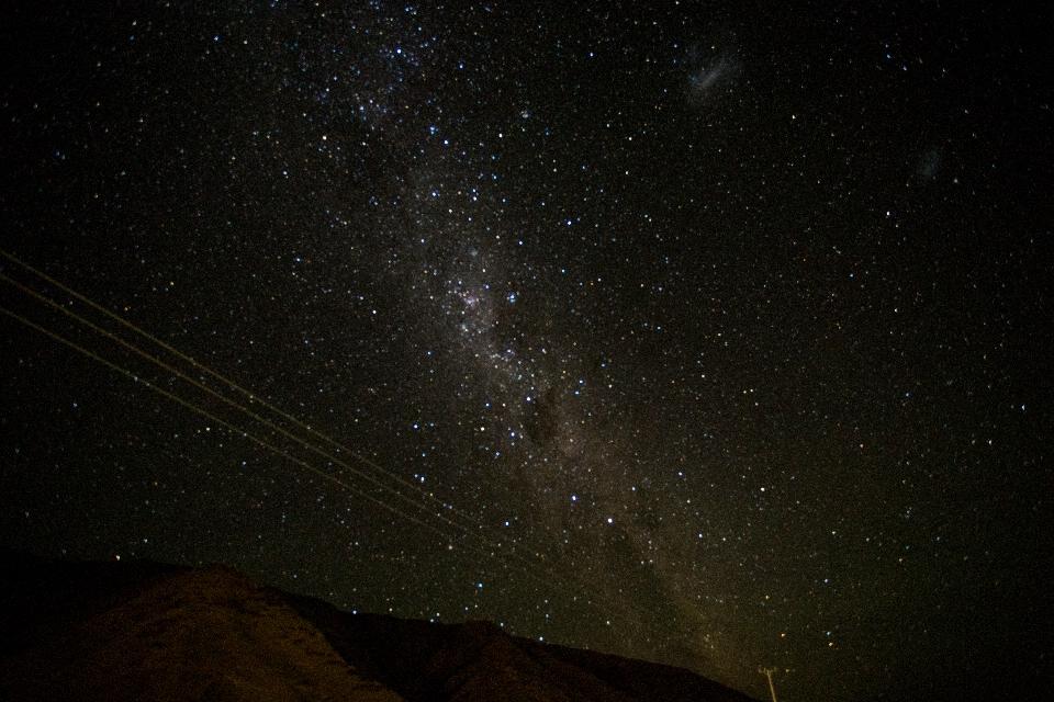 ... dem Nachthimmel Platz macht.