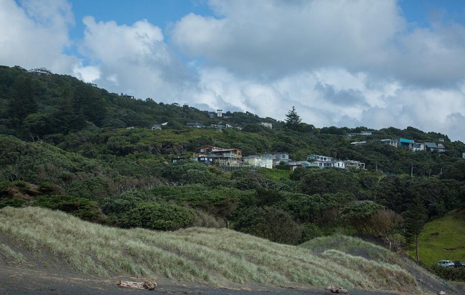 Ein Blick auf Muriwai City ...