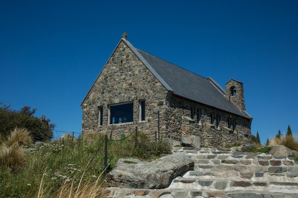 "Dort steht die ""Church of The Good Shepered"" ..."