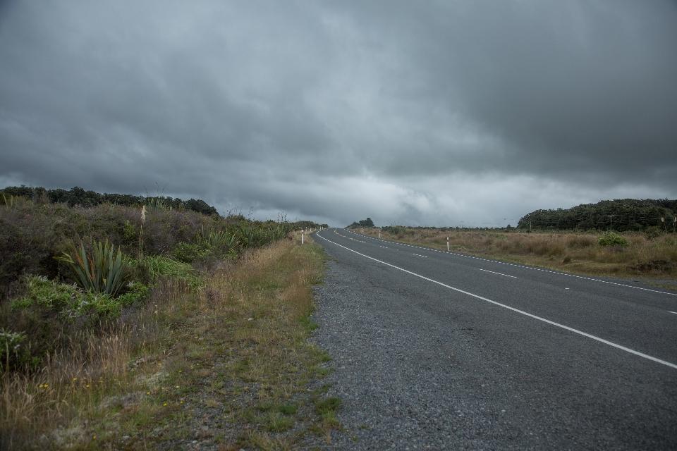 TAG NEUN Los geht die Fahrt bei noch sehr trübem Himmel und wir verlassen den Tongariro-Nationalpark