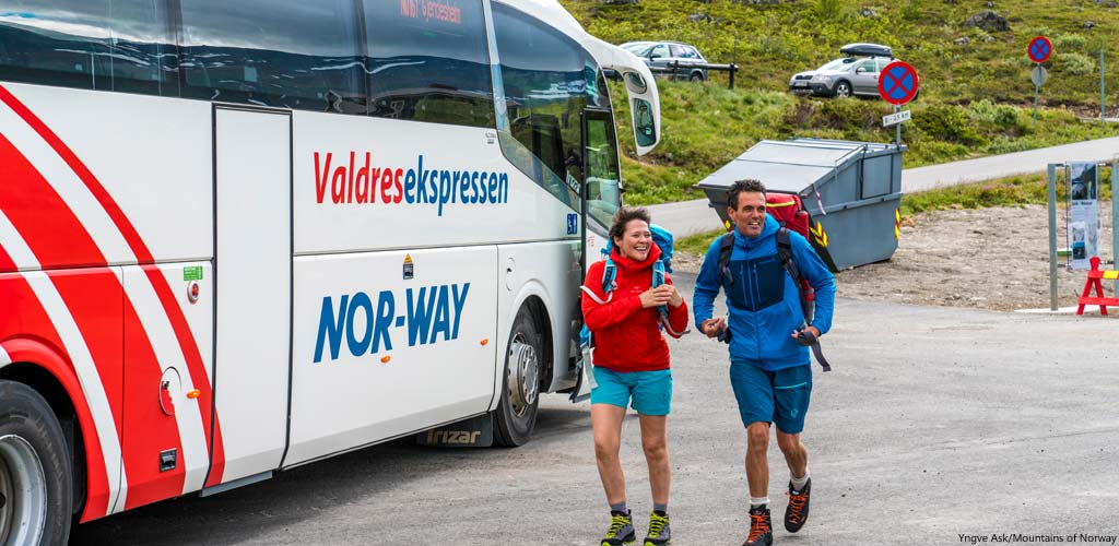 Bustransfer von Oslo