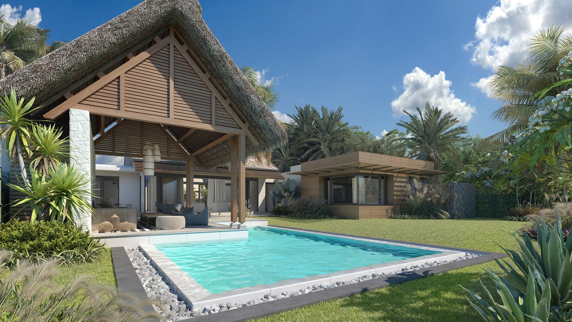 nouveau programme de villas contemporaines et de luxe à l'île Maurice : Les VUES du REMPART TAMARIN