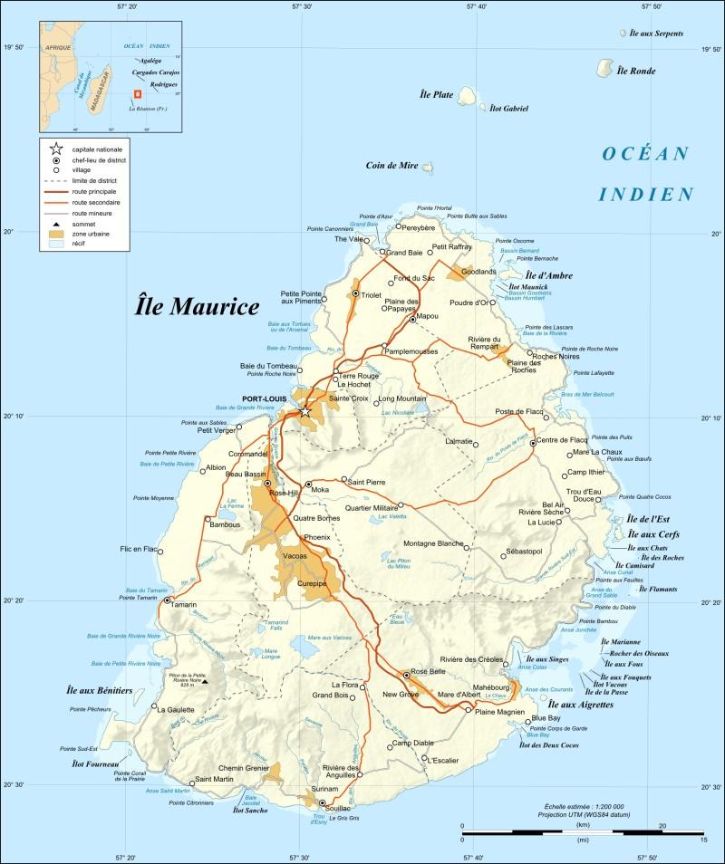 Carte Géographique de l'ile maurice   Jinvesty Ile Maurice
