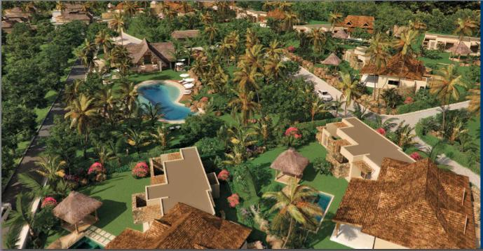 revente et achat villa et maison domaine cap tropical Rivière noire ile maurice