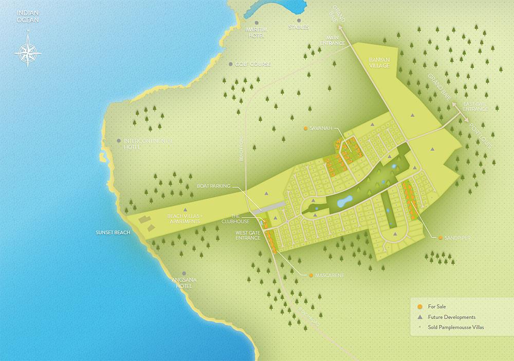 plan de masse général ROYAL PARK RES ILE MAURICE