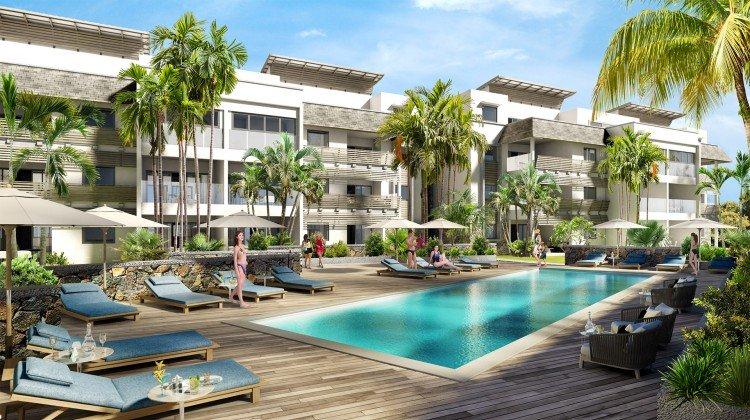 Appartements et piscine Les Jardins du Barachois pds Tamarin ile maurice