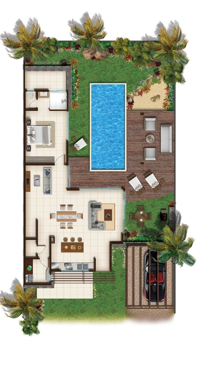 RES DOMAINE CAP TROPICAL - PLANS 2D VILLAS BALINAISES