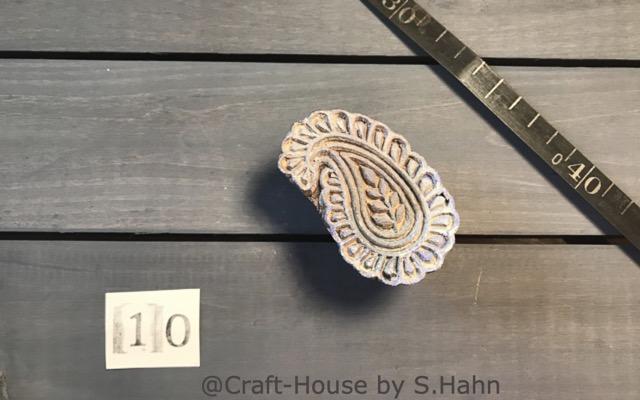 Indischer Stempel Nr. 10 - originelle Dekoration für Keramik bei Craft-House by S. Hahn