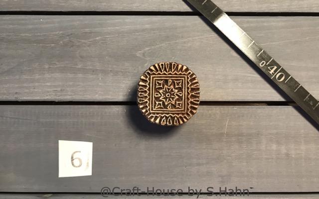 Indischer Stempel Nr. 6 - originelle Dekoration für Keramik bei Craft-House by S. Hahn