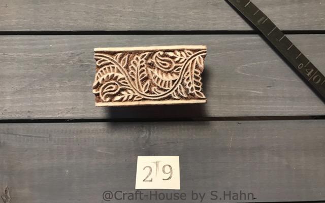Indischer Stempel Nr. 29 - originelle Dekoration für Keramik bei Craft-House by S. Hahn