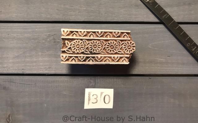Indischer Stempel Nr. 30 - originelle Dekoration für Keramik bei Craft-House by S. Hahn