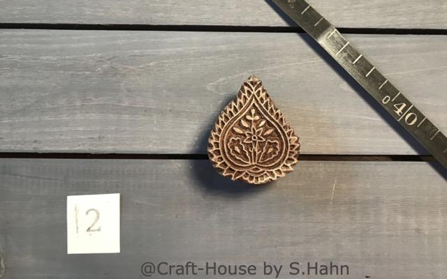 Indischer Stempel Nr. 2 - originelle Dekoration für Keramik bei Craft-House by S. Hahn