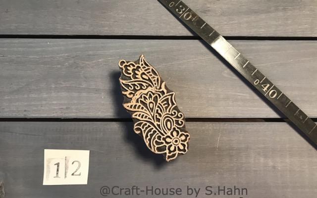 Indischer Stempel Nr. 12 - originelle Dekoration für Keramik bei Craft-House by S. Hahn