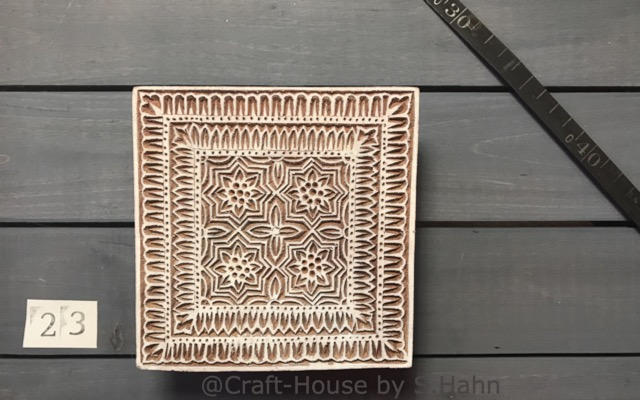 Indischer Stempel Nr. 23 - originelle Dekoration für Keramik bei Craft-House by S. Hahn
