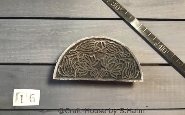 Indischer Stempel Nr. 16 - originelle Dekoration für Keramik bei Craft-House by S. Hahn