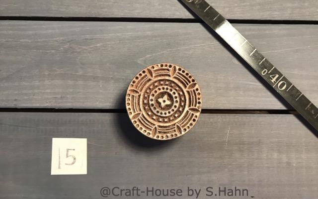 Indischer Stempel Nr. 5 - originelle Dekoration für Keramik bei Craft-House by S. Hahn