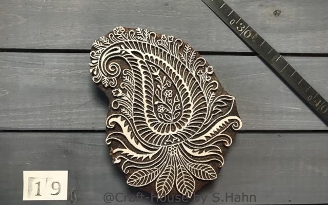 Indischer Stempel Nr. 19 - originelle Dekoration für Keramik bei Craft-House by S. Hahn