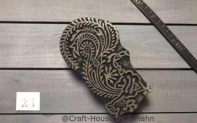 Indischer Stempel Nr. 21 - originelle Dekoration für Keramik bei Craft-House by S. Hahn