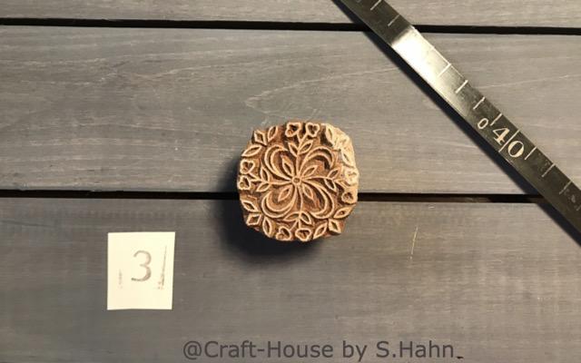 Indischer Stempel Nr. 3 - originelle Dekoration für Keramik bei Craft-House by S. Hahn