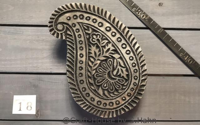 Indischer Stempel Nr. 18 - originelle Dekoration für Keramik bei Craft-House by S. Hahn