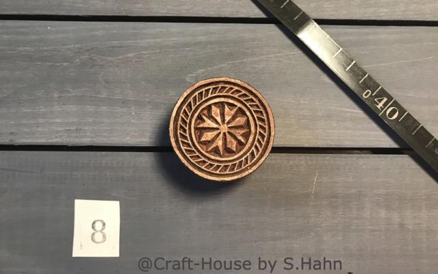 Indischer Stempel Nr. 8 - originelle Dekoration für Keramik bei Craft-House by S. Hahn